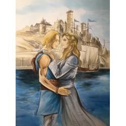 ORIGINAL DRAWING WALDIN - Gillian & Arianne (65x50 cm)